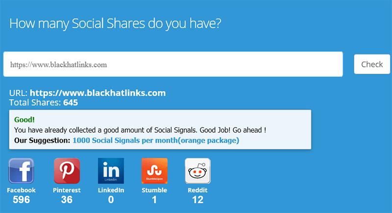 Social Media Share Checker