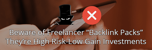 Do not buy PBN backlinks from freelancers or fiverr!