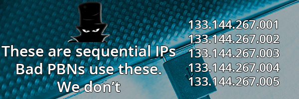Good PBNs Offer Class A Unique IP Addresses.