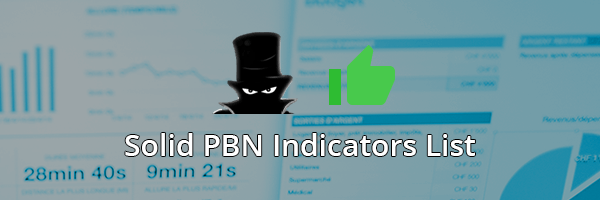 Solid PBN Indicators List