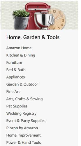 E-commerce SEO Keyword Research: Amazon Directory Listing