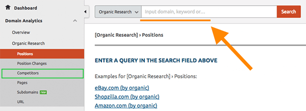 E-commerce SEO Keyword Research: SEMRUSH Competitors