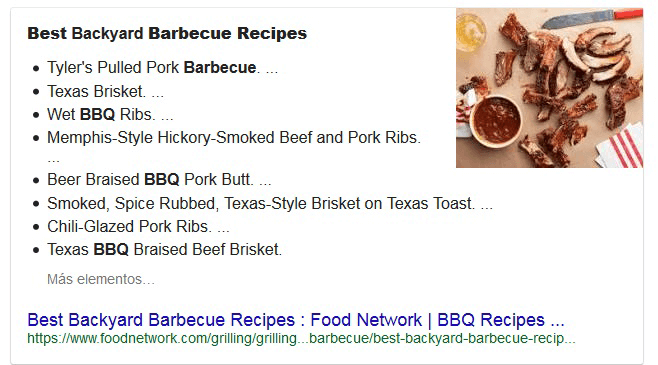 Rich Snippet, or Google Snippet Example
