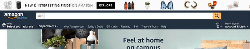 Amazon Frontpage