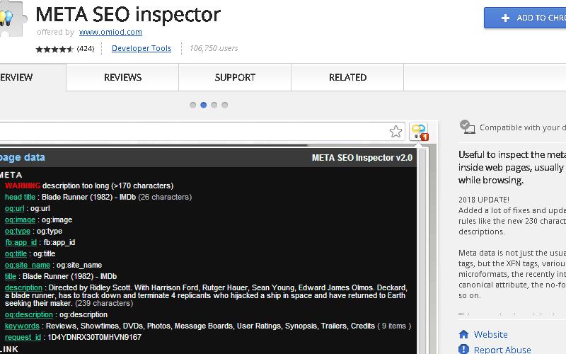 Meta SEO Inspector Chrome Extension