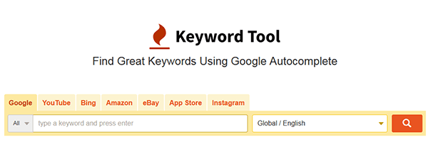 Use KeywordTool To Build Your Keyword List