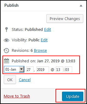 Update Your Old Content's Publication Date
