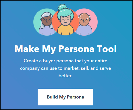 Hubspot Persona Tool