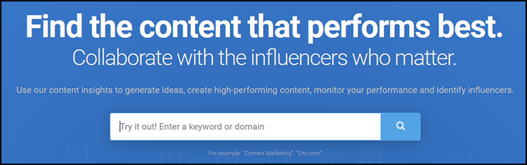 Content Marketing in SEO: Buzzsumo