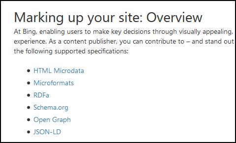 Bing Schema Guide