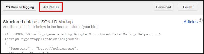 Assistente de marcação para dados estruturados do Google