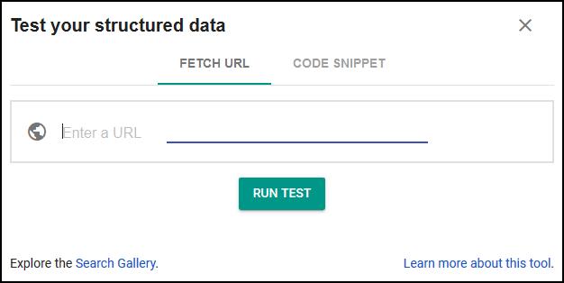 Testador de dados estruturados do Google