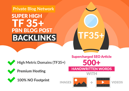 Buy Super High TF 35+ PBN Blog Post Backlinks - Powerful